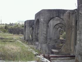 The Bases of the Former Cyanide Tanks